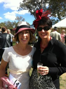 Sallann and Lisa at the races